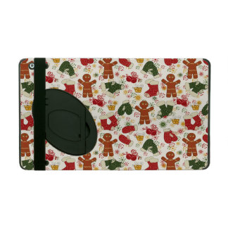 Holiday Gingerbread Pattern iPad Case