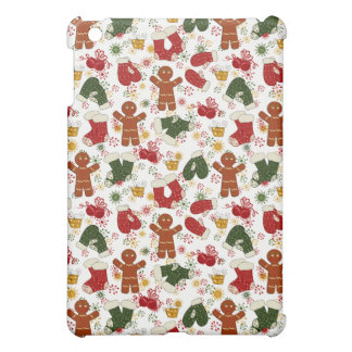 Holiday Gingerbread Pattern iPad Mini Case