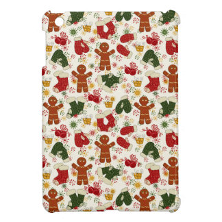 Holiday Gingerbread Pattern iPad Mini Cases
