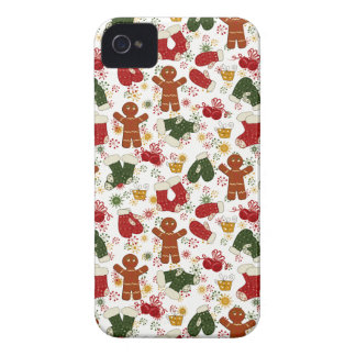 Holiday Gingerbread Pattern iPhone 4 Case