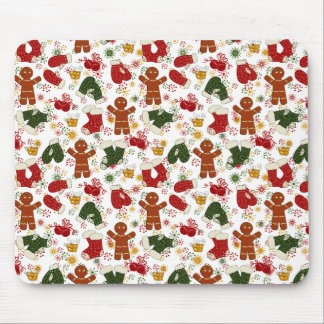 Holiday Gingerbread Pattern Mouse Pad