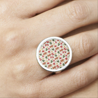 Holiday Gingerbread Pattern Rings