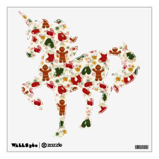 Holiday Gingerbread Pattern Wall Decal