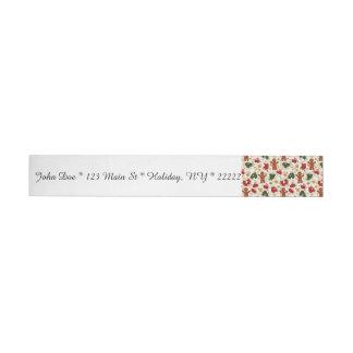 Holiday Gingerbread Pattern Wraparound Address Label