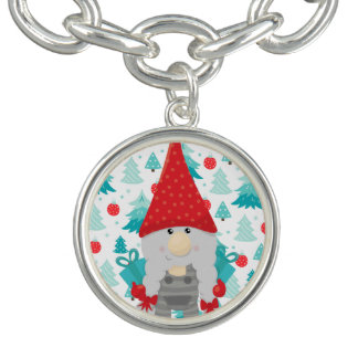 Holiday Gnome with gifts Bracelets