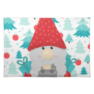 Holiday Gnome with gifts Placemat