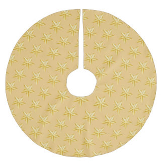 Holiday Gold Stars Tree Skirt