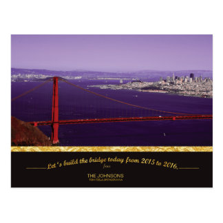 Holiday Golden Gate Bridge & San Francisco skyline Postcard