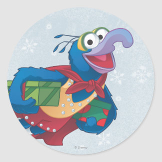 Holiday Gonzo Classic Round Sticker