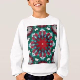 Holiday Green Red with Blue Accent Mandala Sweatshirt