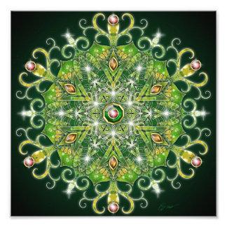 Holiday Greenery Mandala Photographic Print