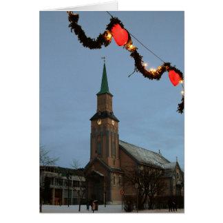 Holiday Greeting Card - Tromsø Cathedral, Norway