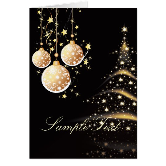 Holiday Greeting Cards, Christmas Tree+Ornaments Card