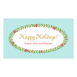 Holiday Greeting Insert Coupon Gift Card Business Card