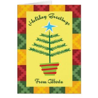 Holiday Greetings From Alberta Card