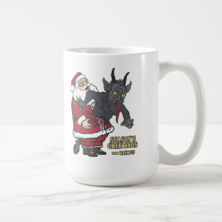 Holiday Greetings from Krampus (and Santa) Coffee Mug