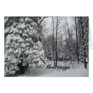 Holiday Greetings Winter Tree Scene Card