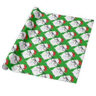 Holiday Guinea Pig Wrapping Paper