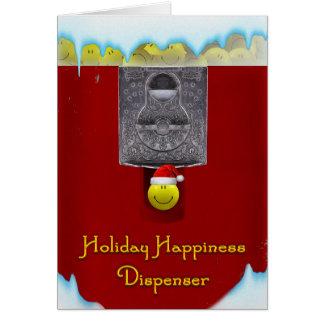 Holiday Gumball Machine Card