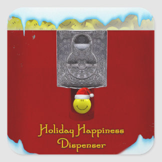 Holiday Happiness Dispenser Stickers
