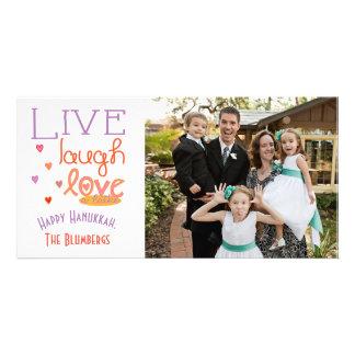 "Holiday Happy Hanukkah Card ""Love a Latke"""