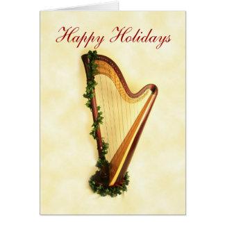 Holiday Harp Card