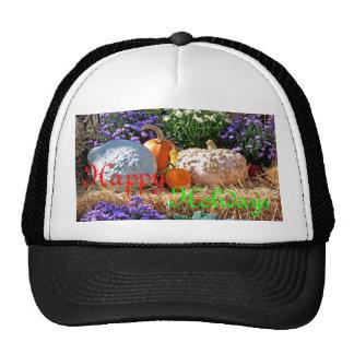 Holiday Harvest Merry Xmas Design Trucker Hat