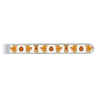 Holiday Harvest Silver Finish Tie Clip