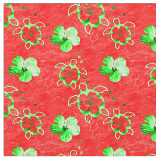 Holiday Hawaiian Honu Turtles Fabric
