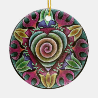 Holiday Heart Mandala Ornament