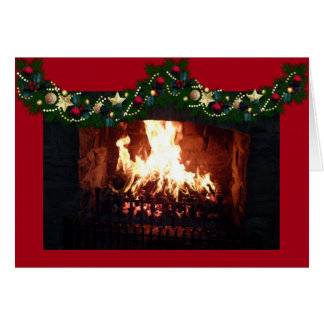 Holiday Hearth Blessings Card