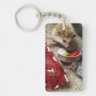Holiday Hedgehog Keychain