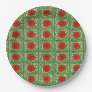 Holiday Hibiscus & Vines Paper Plate