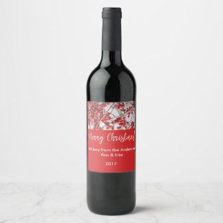 Holiday Holly Berries Food & Beverage Label Set