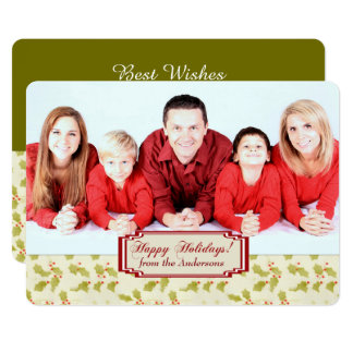 Holiday Holly Photo Template Christmas