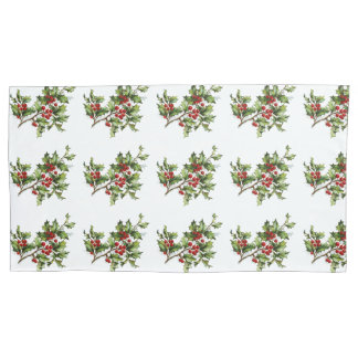 Holiday Holly Single Pillowcase, King Size Pillowcase