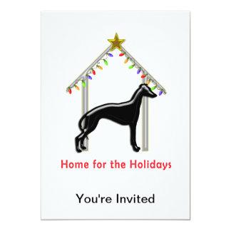"""Holiday Home Logo Greyhound Xmas 5"""" X 7"""" Invitation Card"""