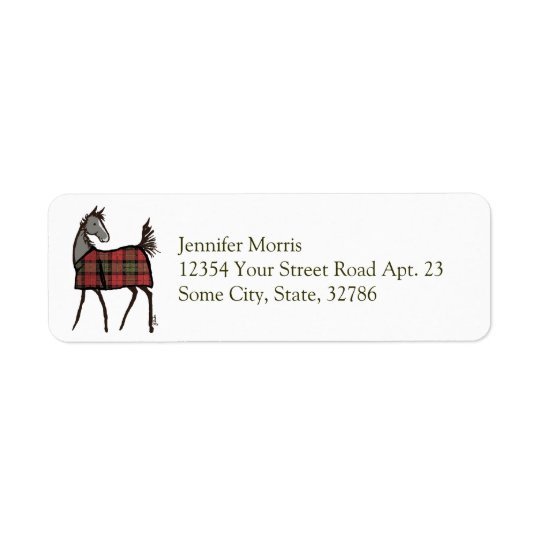 Holiday Horse Foal with Blanket Christmas Return Address Label