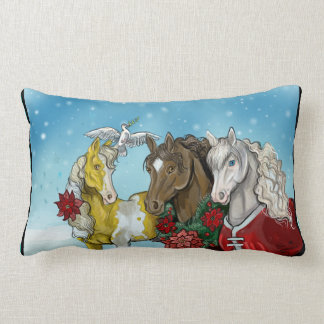 Holiday Horses~pillow Lumbar Pillow