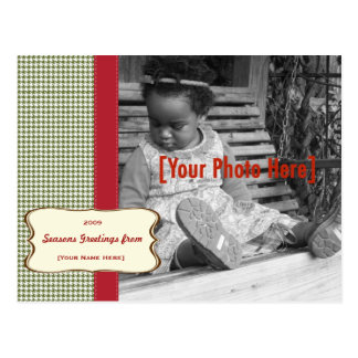 Holiday Houndstooth Photo Card