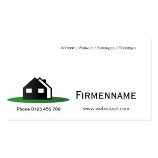 Holiday house business card