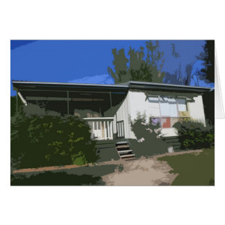"""Holiday house in Bonnie Doon known as """"The Castle"""" Greeting Card"""