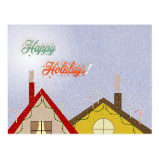 Holiday houses postcard