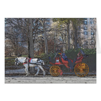 Holiday in Central Park Card