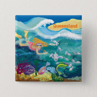 Holiday in tropical Queensland 2 Inch Square Button