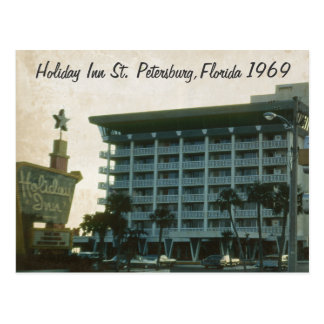 Holiday Inn St. Petersburg Florida 1969 Postcard
