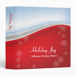 Holiday Joy 3 Ring Binders