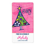Holiday Joy Christmas Tree, Kitchen Labels