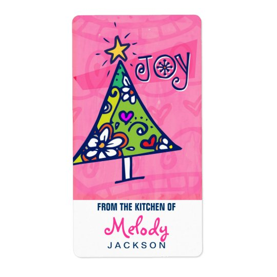 Holiday Joy Christmas Tree, Kitchen Labels