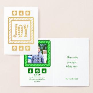 Holiday Joy Gold Foil Card